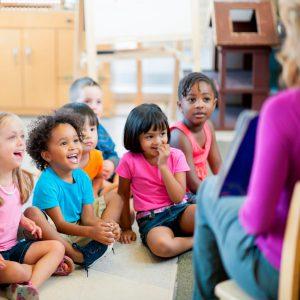 DOTS classroom kids and teacher