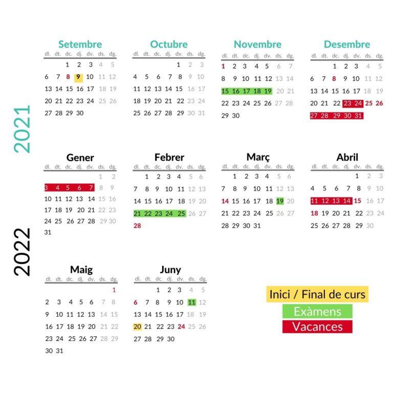 2021-2022 Calendari